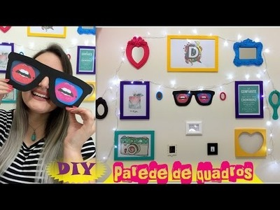 Decorando o quarto - DIY Parede de quadros e quadro em forma de óculos - gastando pouco