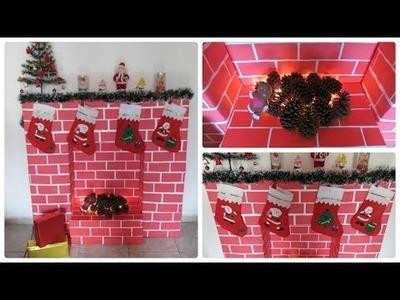 DIY  -   Decoração de Natal  -  Lareira Falsa