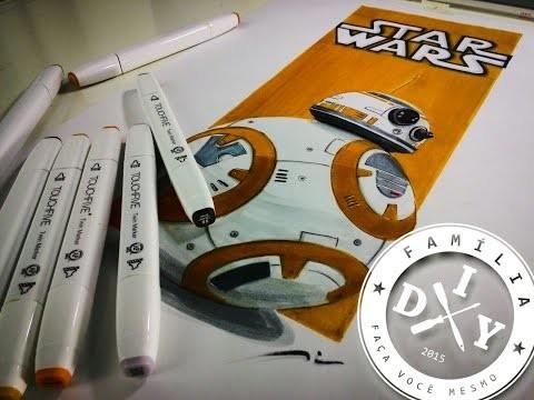 BB-8 - DROID - RENDERING - STAR WARS - FAMÍLIA DIY - BB8
