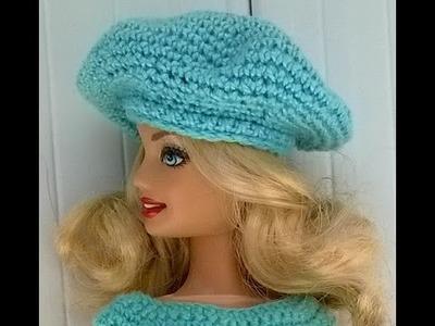 Diy  boina crochê boneca barbie  - faça você mesma