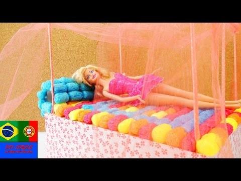 DIY Cama dos sonhos da Barbie – Linda cama