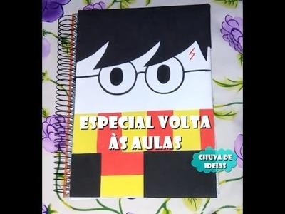 DIY volta às aulas Geek. Caderno Harry Potter