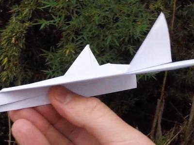 Como Fazer Avião de Papel tipo Caça - Simples e Fácil DIY