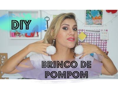 DIY - Brinco de Pompom (Pelúcia) - Thays Travassos