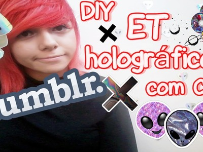 DIY: ET holográfico com CD || Decoração tumblr