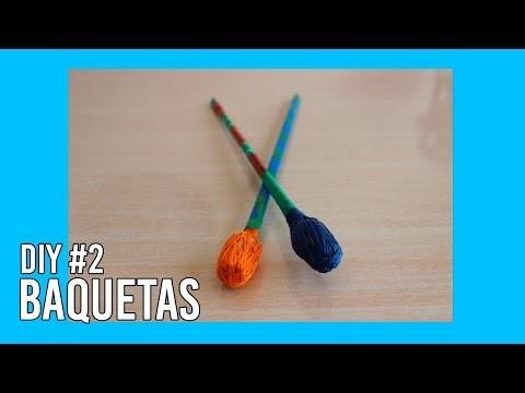 Baquetas com Material Reciclável - DIY #02