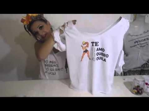 DIY Camisetas e Make para o carnaval.