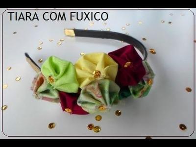 DIY: Como fazer TIARA com FUXICO? | Verão 2016 [1]