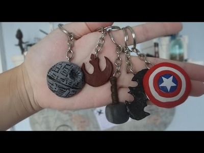 DIY GEEK: Chaveiros (Star Wars, Vingadores e Batman)