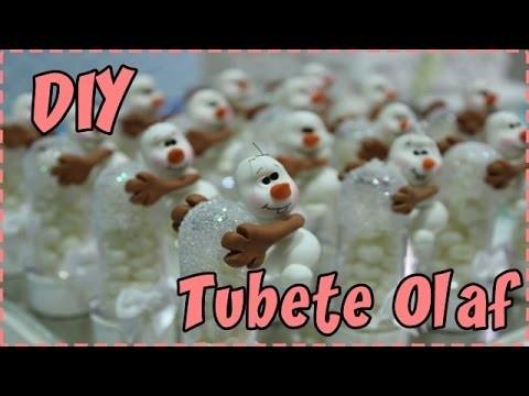 DIY  -  Olaf em biscuit no tubete