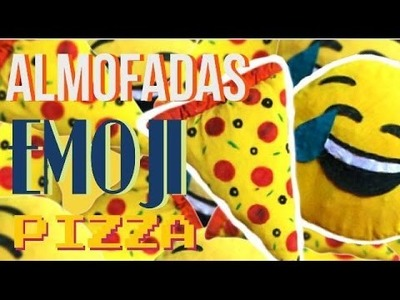 Almofadas de emoji e pizza- DIY- E aí? O que têm pra hoje?