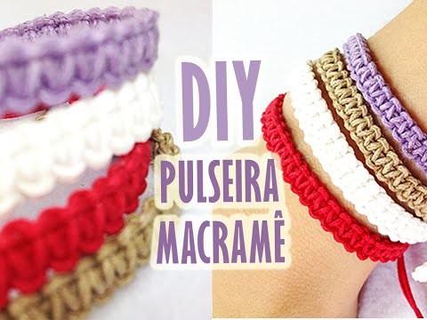 Como Fazer Pulseira em Macramê || Easy DIY Bracelet