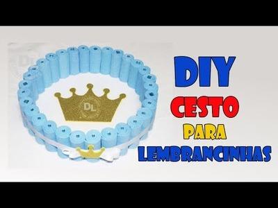 DIY cesto para lembrancinhas com rolinhos de EVA
