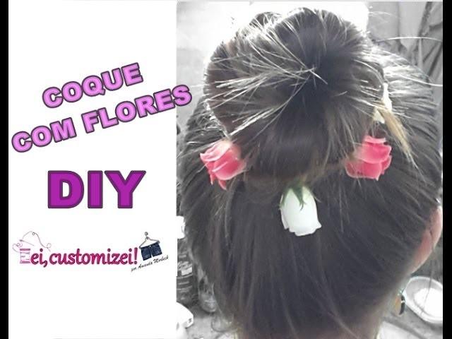 DIY - Coque com flores - ei, customizei!