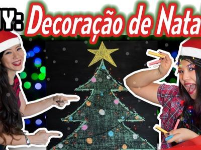 DIY: Decoração de natal (lousa de giz e pisca pisca) | Blog das irmãs