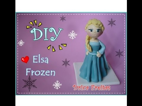 Diy Elsa Frozen em biscuit ( Elsa Frozen clay cold porcelain )