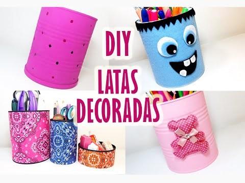 DIY | Latas decoradas - 4 ideias  | Tin Can Ideas