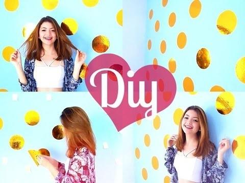 DIY - Parede de poá dourada | GLAM