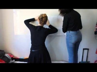 DIY quadro branco na sua parede!!