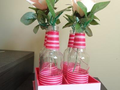 Diy vasinhos de garrafa para decoração