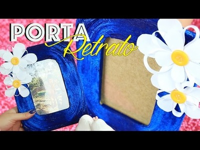 PORTA RETRATO de BARBANTE - DIY | Kim Carvalho