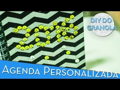 VOLTA ÀS AULAS - Capa de Agenda.Caderno Personalizada (DIY do Granola)