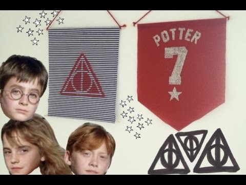 Banner de parede do Harry Potter | DIY (Wall Banner)