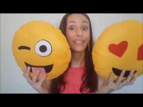 """DIY: Almofadas Fofas de """"EMOJI"""" do whatsapp! #façavocêmesmo"""