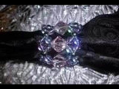DIY.  anel de guardanapo de cristal brilho