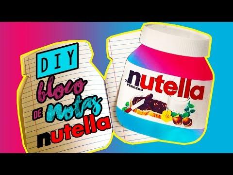 Diy Bloco de Notas de Nutella - Faça você mesmo|Tatiane Xavier