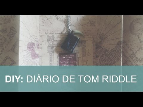 DIY: Chaveiro - Diário de Tom Riddler - Harry Potter (Geek)