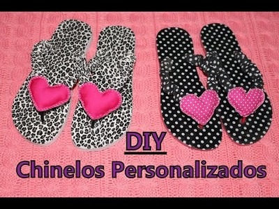 DIY - Chinelos customizados com tecido - Vida de m