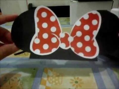 DIY: Como fazer lapela da Minnie FAÇA EM CASA#3 | REGINA ARRUDA