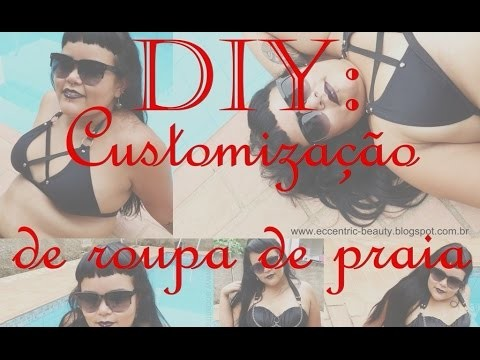 DIY: customização de roupa de banho - Eccentric Beauty Blog