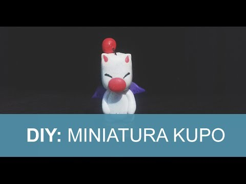 DIY Geek: Miniatura do Kupo (moogle) - Final Fantasy