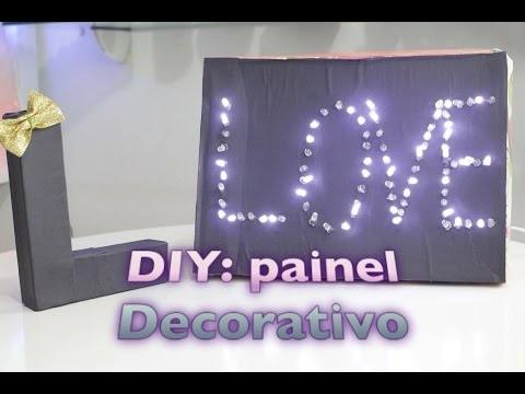DIY : Painel decorativo com pisca pisca | Faça você mesmo