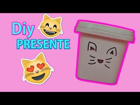 DIY - PRESENTE GATINHO POSITIVO