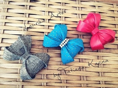 Laço Durinho by Tatiana Karina - Tutorial , PAP, DIY  How To Make a Hair Bow