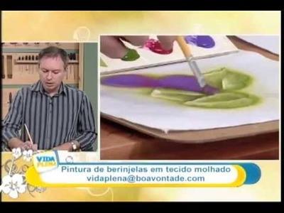 ▶ Artesanato  Pintura em tecido molhado    berinjela YouTube 360p