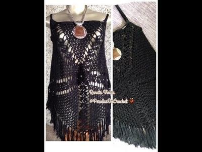 Blusa Gypsy Pérolas do Crochet