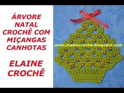 CROCHE PARA CANHOTOS - LEFT HANDED CROCHET - ÁRVORE NATAL CROCHÊ COM MIÇANGAS CANHOTAS