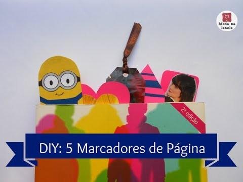 DIY: 5 Marcadores de Página