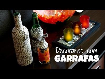 DIY | Decorando com garrafas por Renata Nicolau