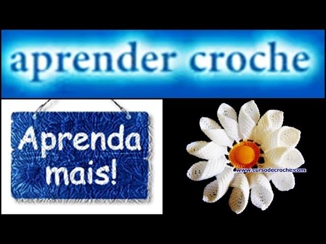FLORES EM CROCHE MARGARIDA RAINHA COM FIO DE ALGODÃO - 001