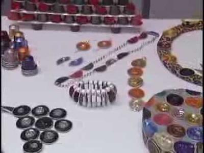 Colar com capsulas Nespresso no Cenário Feminino (artesanato)