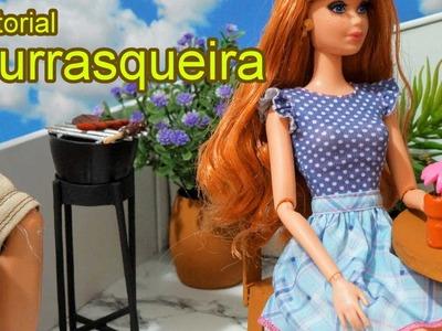 Como fazer uma churrasqueira para boneca Barbie, Monster High, Frozen, EAH, Equestria Girls, etc