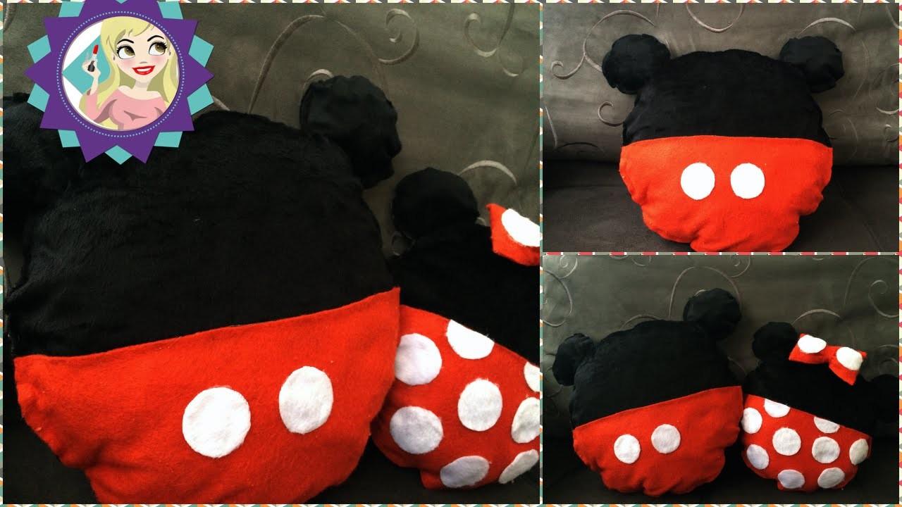 Diy Almofada do Mickey e da Minnie Faça você mesmo|Tatiane Xavier