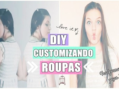 DIY| Customizando moletom velho ♥