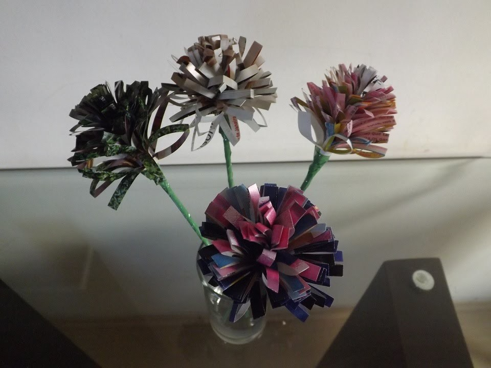 DIY: Flores de revista para decorar