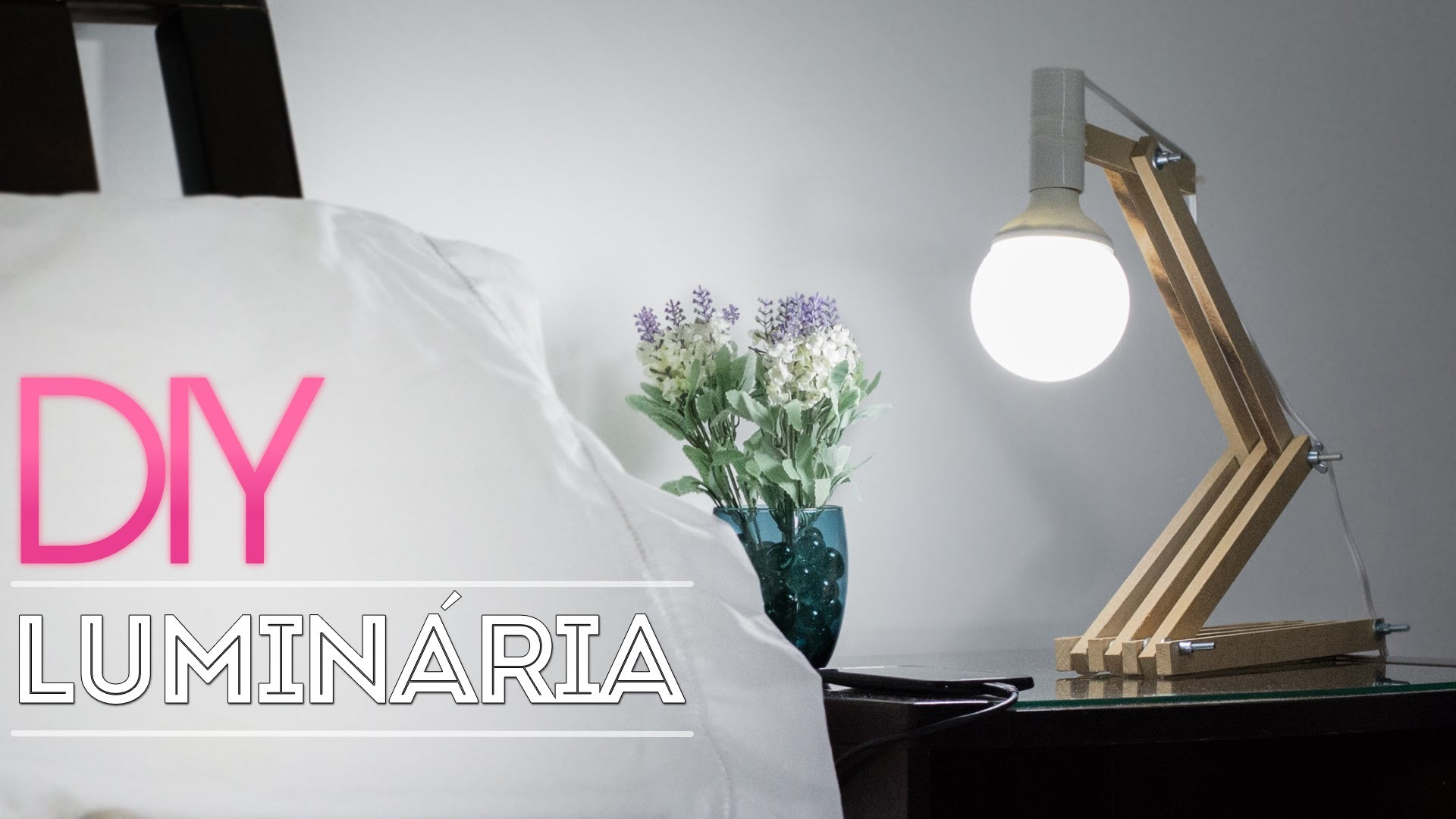 DIY :: Luminária de madeira | Aprenda a fazer